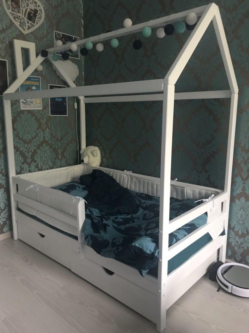 """Кровать домик """"Авеньён"""" массив берёзы"""