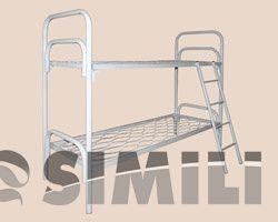 Купить прочные кровати металлические двухъярусные для лагерей, общежитий