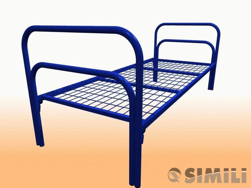 Кровати металлические одноярусные для строительных вагончиков