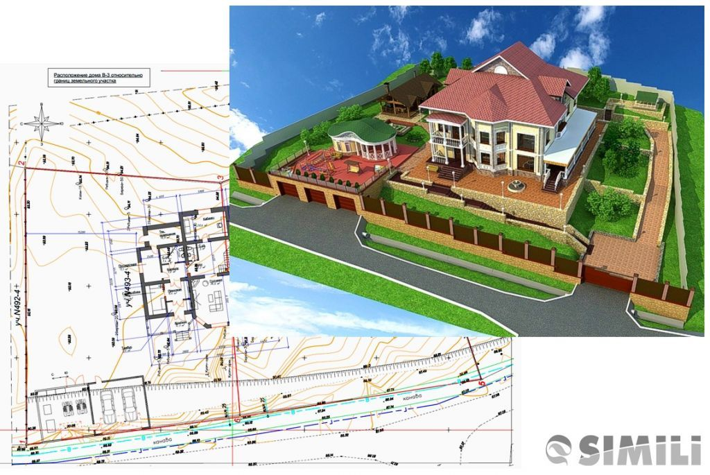 Проект планировки территории земельного участка в 3d виде
