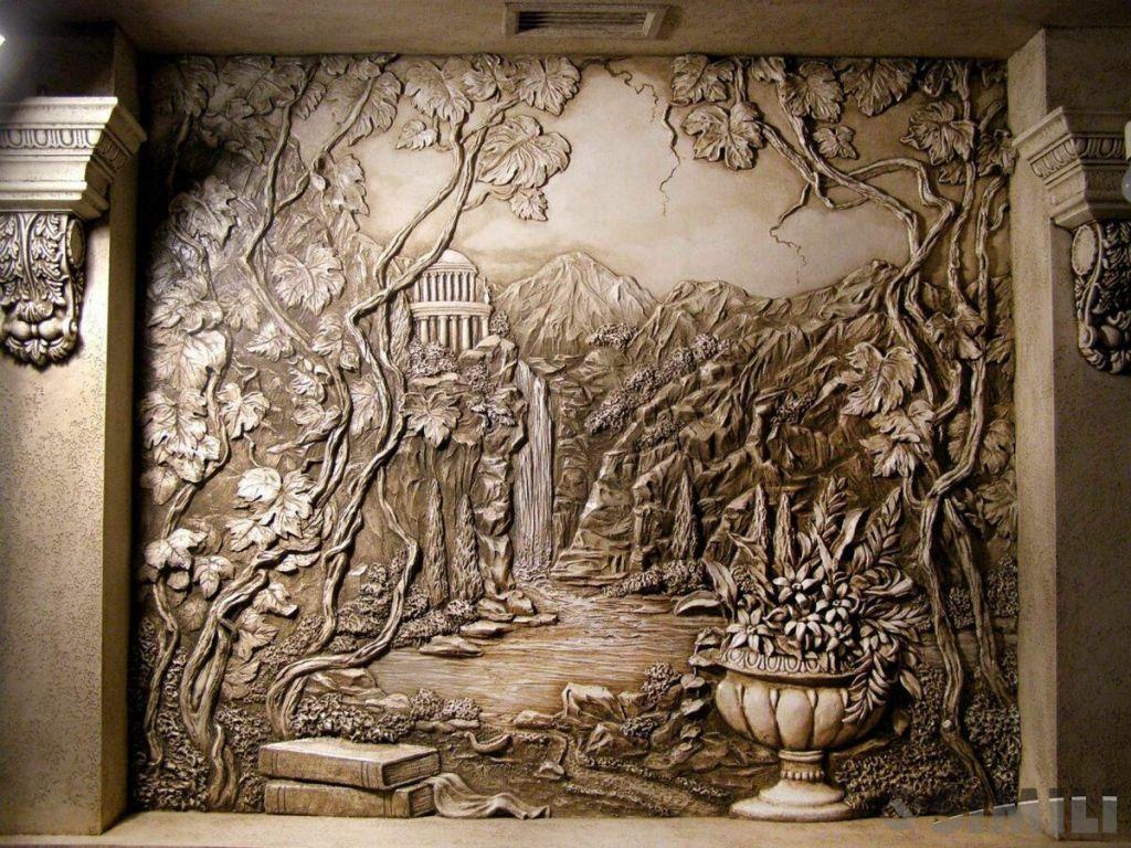 Роспись стен. Барельеф. 3д картина.