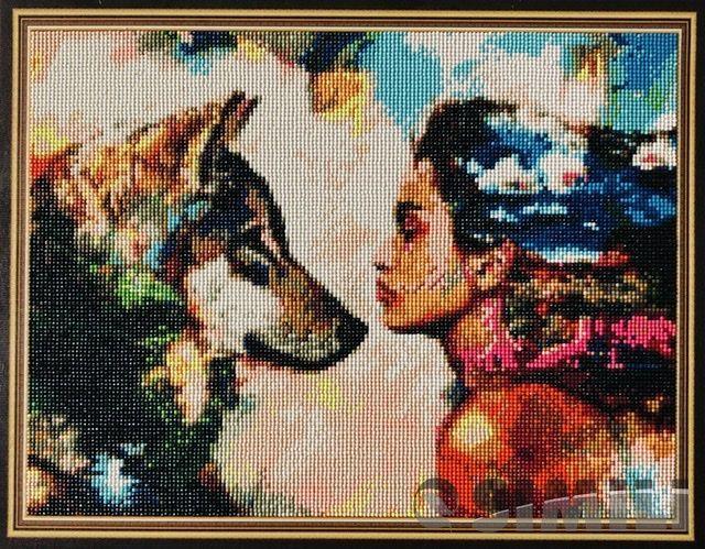 Картина Девушка и волк