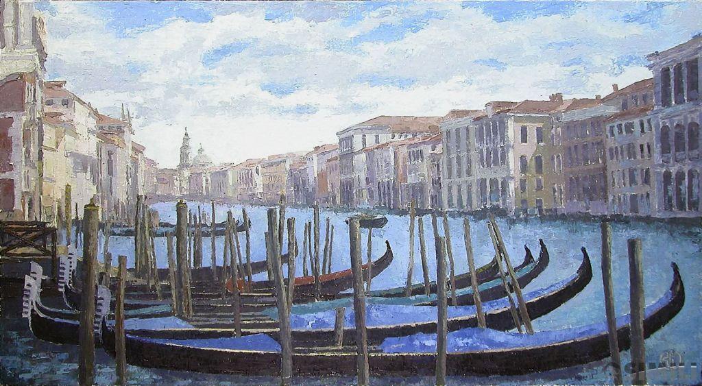 Продаю картину: автор Аксамитов Юрий, Venezia, la grande canal