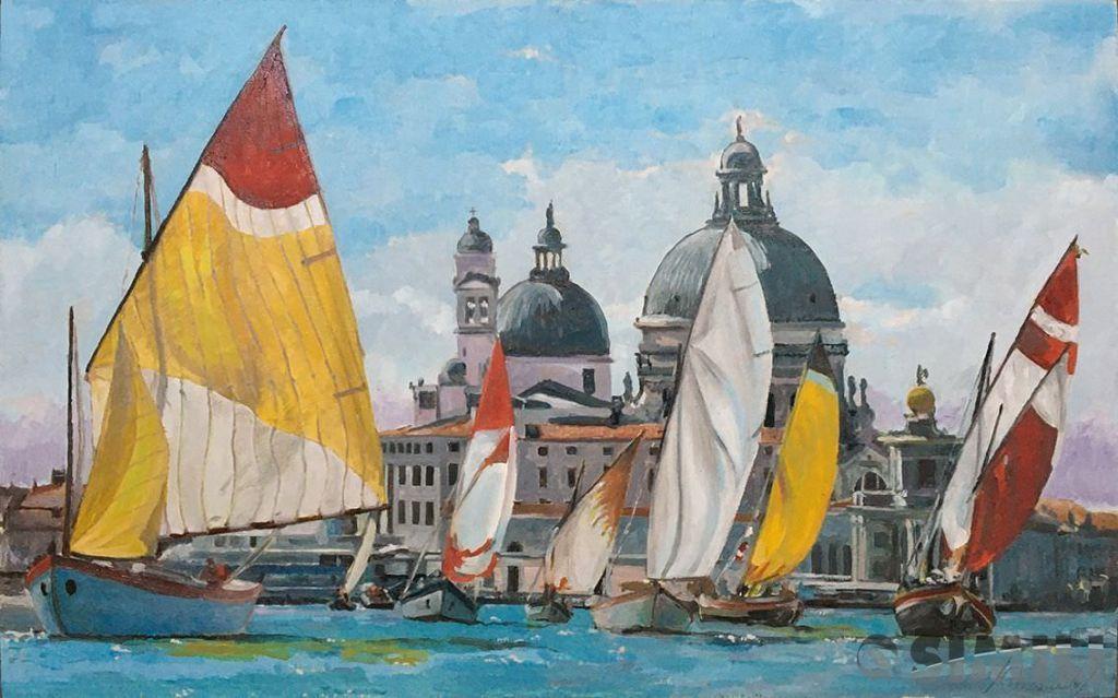 Продаю картину: автор Аксамитов Юрий, La mia Venezia, Santa Maria de la Salute, паруса