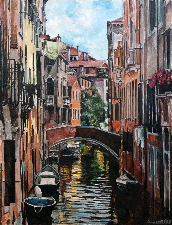 Продаю картину: автор Аксамитов Юрий, La mia Venezia, волшебный город, сюжет