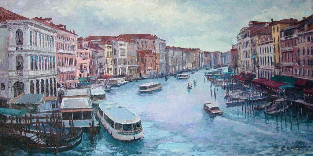 Продаю картину: автор Аксамитов Юрий, La mia Venezia, вечер