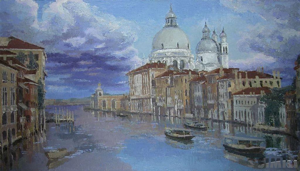 Продаю картину: автор Аксамитов Юрий,  La mia Venezia, Santa Maria de la Salute