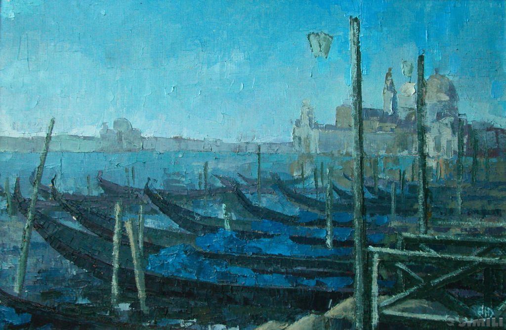 Продаю картину: автор Аксамитов Юрий, Venezia, Спящие гондолы