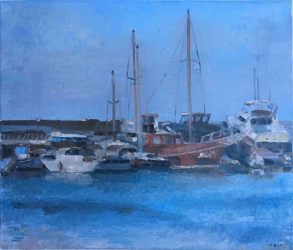 Продаю картину: автор Аксамитов Юрий, яхты, Кипр север