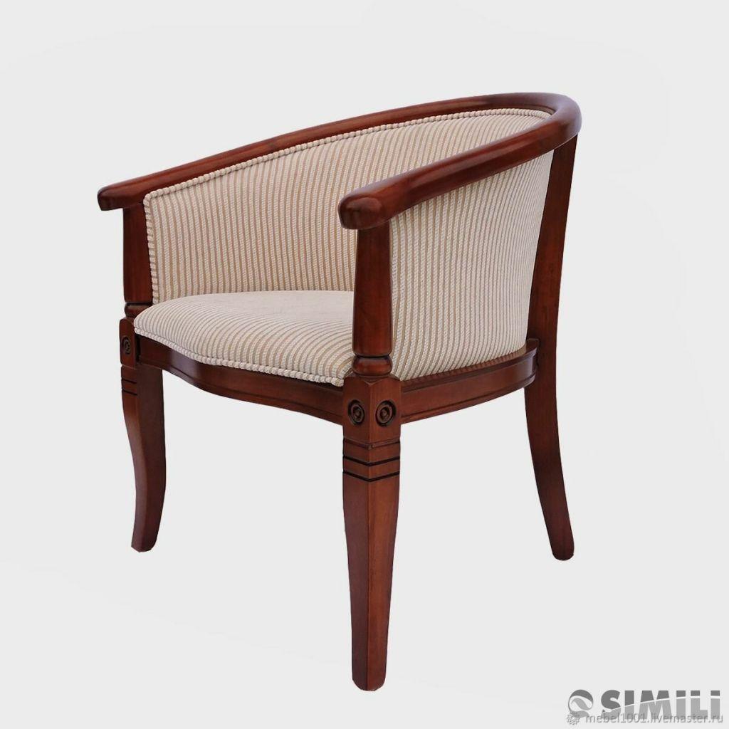Чайная группа В-5. Кресло из лакированного дерева с подлокотниками