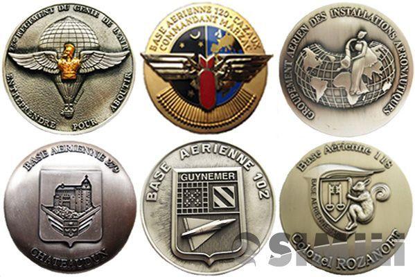 Лот-3. Французские полковые настольные медали