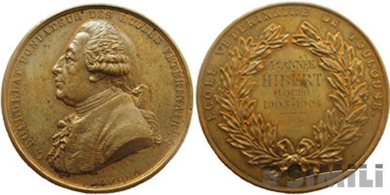 Французская школьная настольная медаль.