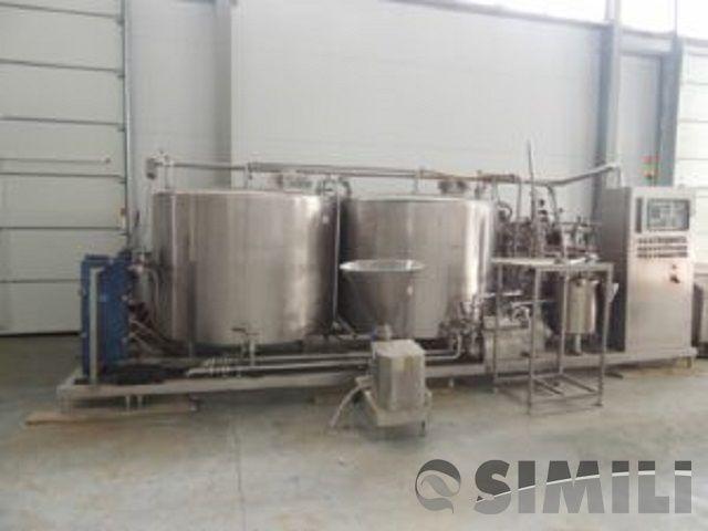 Линия приготовления смеси мороженного, пр-ть 2000 кг/час