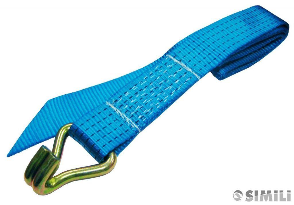 Короткая часть стяжного ремня без храпового механизма (трещетки)