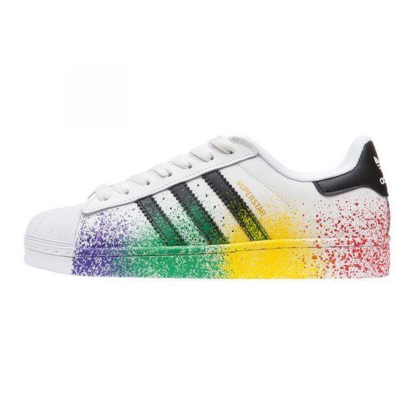 Кроссовки Adidas Superstar Pride pack White Black